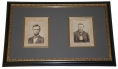 NICELY FRAMED CABINET CARD PHOTOGRAPHS OF LINCOLN AND GRANT