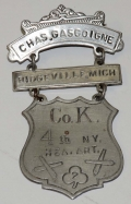 REUNION BADGE - SERGEANT CHARLES H. GASCOIGNE, 4TH NEW YORK HEAVY ARTILLERY
