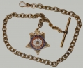 G.A.R. GOLD WATCH CHAIN WITH FOB
