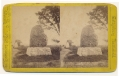 STEREO CARD OF 20TH MASSACHUSETTS MONUMENT AT GETTYSBURG