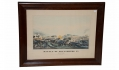 FRAMED MAGNUS PRINT OF THE BATTLE OF GETTYSBURG DATED 1863