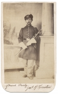 INK SIGNED FULL STANDING CDV OF 15TH PENNSYLVANIA CAVALRY OFFICER -NEPHEW OF WARTIME PENNSYLVANIA GOVERNOR