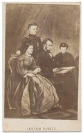 CIVIL WAR ALBUM FILLER CARD: THE LINCOLN FAMILY