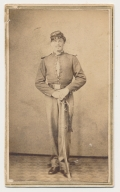FULL STANDING CDV 15TH PENNSYLVANIA CAVALRY TROOPER WEARING BRASS SCALES