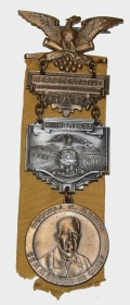 1934 G.A.R. NATIONAL ENCAMPMENT REPRESENTATIVE BADGE – ROCHESTER, NEW YORK