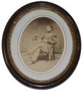 FRAMED PHOTOGRAPH OF CAPTAIN FRANK BUELL, 18th OHIO AND BATTERY C 1st WV LT. ARTILLERY, KILLED AT FREEMAN'S FORD 1862