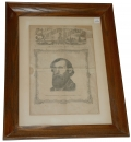 FRAMED 1863 SOUTHERN ILLUSTRATED NEWS FEATURING A.P. HILL