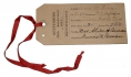 GETTYSBURG 50TH ANNIVERSARY VETERAN TAG ID'D & SIGNED BY DUNOIS BEMAN, 94TH NEW YORK INFANTRY