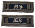 "UNION MEDICAL STAFF (""M.S."") 1ST LIEUTENANT SHOULDER STRAPS"