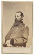 WAIST-UP SEATED CDV OF GENERAL DAVID A. RUSSELL OF THE 6TH CORPS