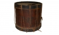 "C. 1843-1850 SNARE DRUM WITH ""BARBOUR COUNTY VIRGINIA"" AND AN AMERICAN EAGLE PAINTED ON THE SIDE!"