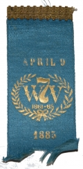 1885 REUNION RIBBON FOR THE 7TH WEST VIRGINIA INFANTRY