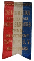 RIBBON FOR THE 1918 REUNION OF THE 79TH NEW YORK HIGHLANDERS