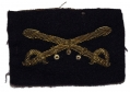 SMALL EMBROIDERED CIVIL WAR CROSSED SABERS INSIGNIA