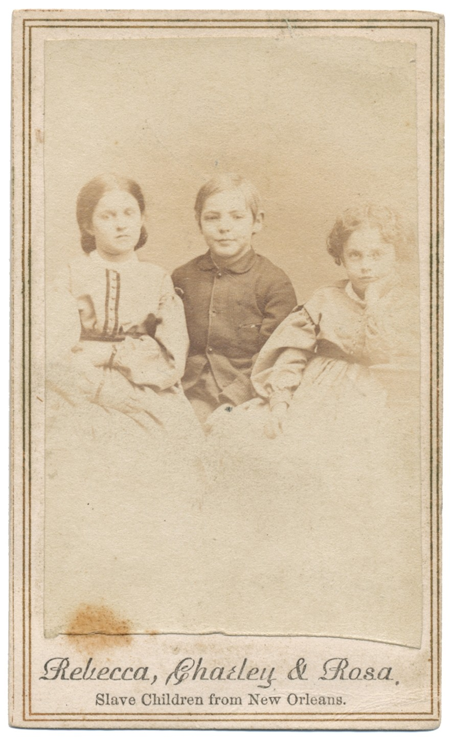 CDV 1864 VIEW OF SLAVE CHILDREN FROM NEW ORLEANS