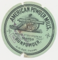 AMERICAN POWDER MILLS BOSTON CIRCULAR LABEL