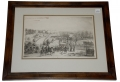 FANTASTIC FRAMED DRAWING OF THE BATTLE OF DRAINSVILLE DONE BY GETTYSBURG CARTOGRAPHER EMMOR B. COPE