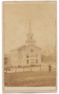 BRADY VIEW OF COLUMBIA BAPTIST CHURCH IN FALLS CHURCH, VA IN 1862
