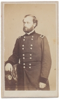CDV THREE-QUARTER STANDING VIEW OF QUINCY A. GILLMORE AS A BRIGADIER GENERAL