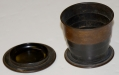 CIVIL WAR HARD RUBBER COLLAPSIBLE CUP WITH LID