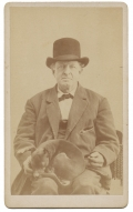 CDV OF MAN WITH A SMALL DOG