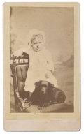 CDV YOUNG CHILD WITH A DOG