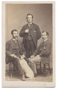 CDV OF THREE GENTLEMEN AND DOG