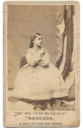 CDV REBECCA, A WHITE SLAVE CHILD, AND THE FLAG