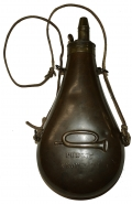 ALAMO PERIOD PUBLIC PROPERTY MARKED POWDER FLASK