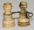 CIVIL WAR ERA CARVED IVORY BINOCULARS