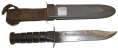 MARK 2 NAVY FIGHTING KNIFE BY CAMILLUS WITH SCABBARD