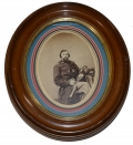 OVAL ALBUMEN OF UNIDENTIFIED 88TH PENNSYLVANIA OFFICER