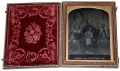 QUARTER PLATE AMBROTYPE OF FAMILY, DATED 1856