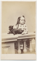 CDV OF YOUNG GIRL WITH A SMALL DOG