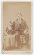 CDV – YOUNG MAN WITH A DOG