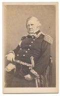 CARTE DE VISITE LIEUT. GENERAL WINFIELD SCOTT