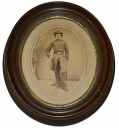 FRAMED OVAL ALBUMEN OF 88TH PENNSYLVANIA OFFICER