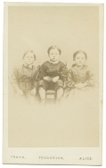 CDV OF THE HUMISTON CHILDREN WHO'S FATHER WAS KILLED AT GETTYSBURG