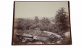 LARGE ALBUMEN PHOTOGRAPH OF DEVIL'S DEN FROM THE SUMMIT OF LITTLE ROUND TOP