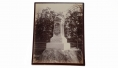 LARGE ALBUMEN PHOTO OF MONUMENT AT GETTYSBURG TO THE 27TH INDIANIA VOLUNTEER INFANTRY