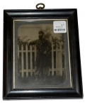 FRAMED 1/2 PLATE SIZE AMBROTYPE OF AN UNIDENTIFIED OFFICER, POSSIBLY WITH THE 12TH NEW YORK STATE MILITIA