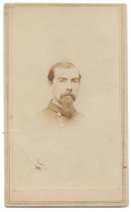 BUST VIEW CDV OF LIEUTENANT COLONEL AMOS H. WHITE OF THE 5TH NEW YORK CAVALRY