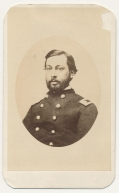 WAIST-UP SEATED VIEW OF 15TH PENNSYLVANIA CAVALRY MAJOR KILLED AT MURFREESBORO