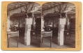 STEREO CARD VIEW OF THE INTERIOR OF LIBBY PRISON AT THE CHICAGO WORLD'S FAIR
