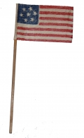 CIRCA 1861 MINIATURE CS FLAG