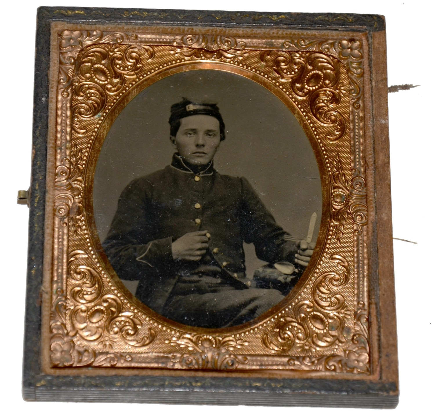 WONDERFUL SIXTH PLATE TINTYPE: INNOCENCE AND MESSGEAR