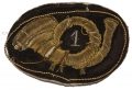 EMBROIDERED OFFICER'S INSIGNIA, 1ST INFANTRY