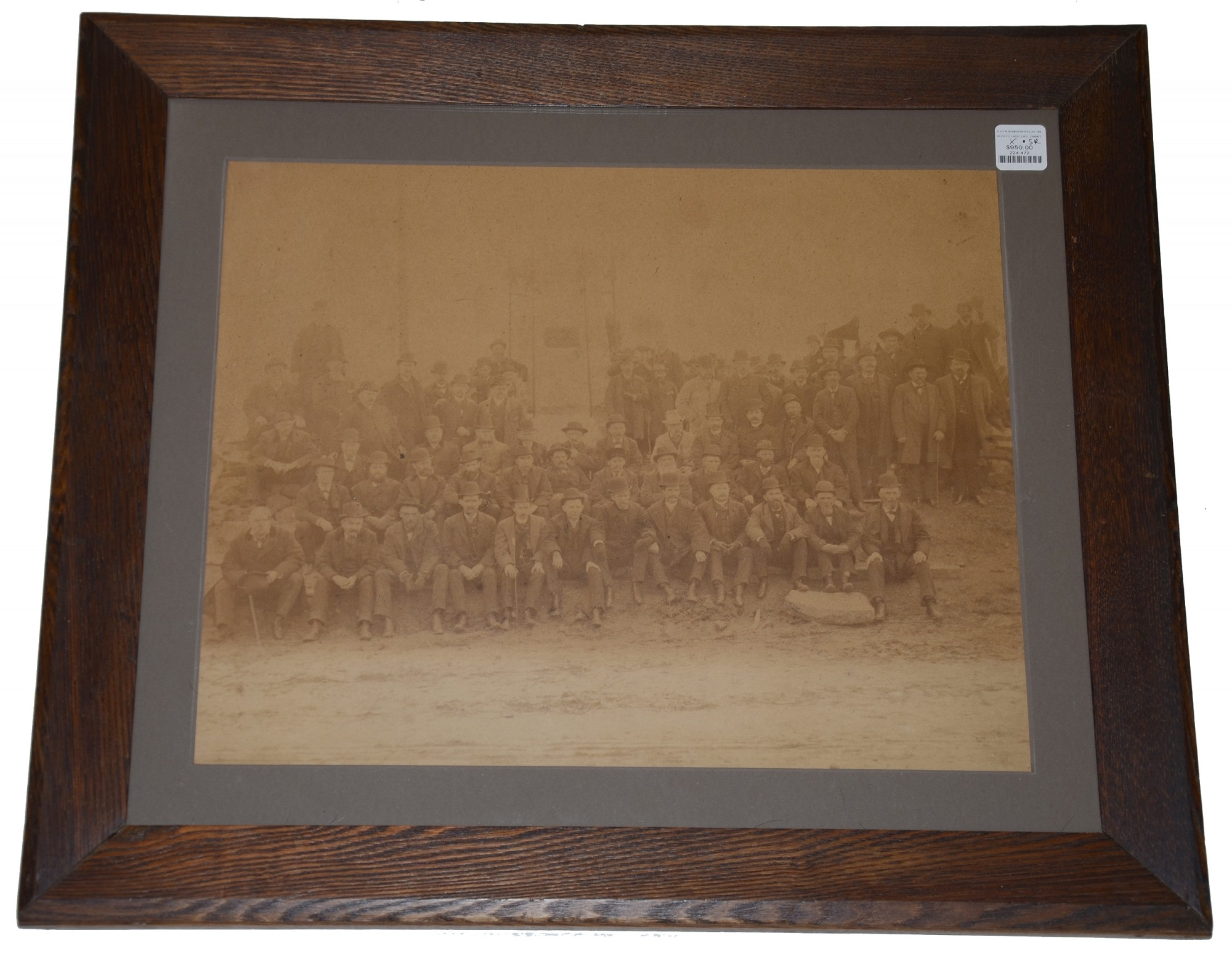 6th PENNSYLANIA CAVALRY, RUSH'S LANCERS, VETERANS PHOTO AT THEIR GETTYSBURG MONUMENT