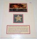 FRAGMENT OF A 33-STAR FLAG - THE FIRST UNITED STATES FLAG OF THE CIVIL WAR 1861