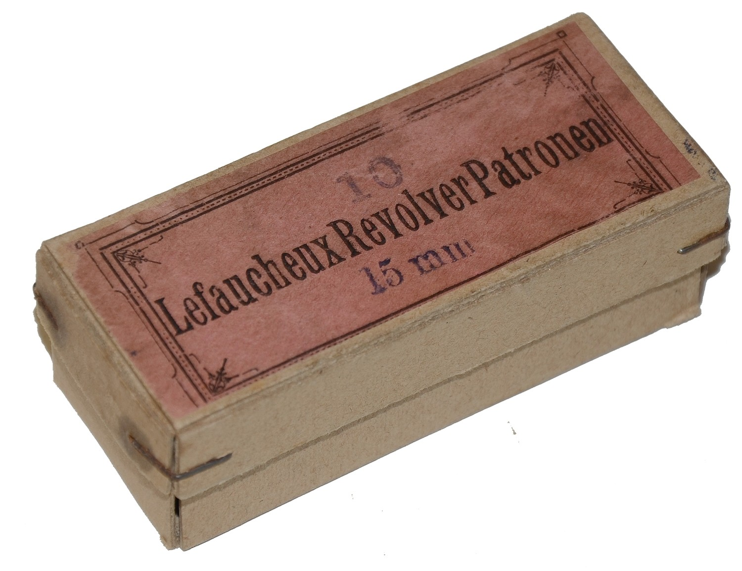 EMPTY BOX FOR LEFAUCHEUX 15MM CARTRIDGES